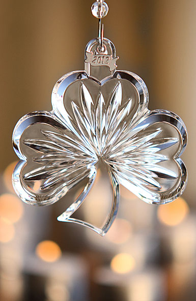 Waterford 2012 Annual Clear Shamrock Ornament