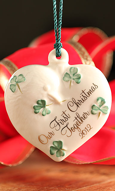 Belleek Our First Christmas Together 2012 Ornament