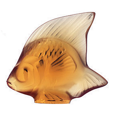Lalique Fish, Amber #7