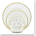 Vera Wang Wedgwood China Gilded Leaf 5-Piece Place Setting
