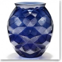 Lalique Tortue Vase, Midnight Blue