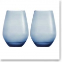 Vera Wang Wedgwood Hue Indigo Stemless White Wine, Pair