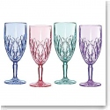Marquis By Waterford Brookside Pastels Iced Beverage, Set of Four (Aqua, Blue, Purple, Pink)