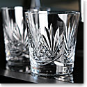 Waterford Paula Double Old Fashioned Whiskey Glasses, Pair