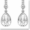 Swarovski Attention Pierced Earrings Crystal and Rhodium