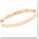 Swarovski Tactic Thin Pale Rose Gold Bangle Bracelet, Small