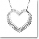 Swarovski Crystal and Rhodium Cupidon Heart Pendant Necklace