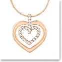 Swarovski Circle Heart Crystal and Rose Gold Pendant Necklace