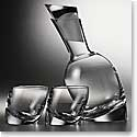 Nambe Crystal Tilt Decanter Set With 2 DOF Glasses
