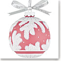 Wedgwood Pine Cone Ball Red Ornament
