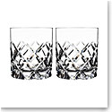 Orrefors Sofiero Old Fashioned Glass, Pair