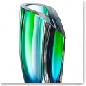 "Kosta Boda Mirage 7 3/4"" Vase, Blue and Green"