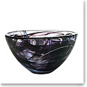 Kosta Boda Contrast Large Bowl, Black