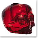 Kosta Boda Still Life Skull Votive, Red