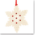 Belleek Living Snowflake Hanging Ornament