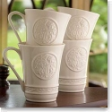 Belleek China Irish Craft Mugs, Set of 4