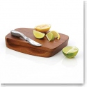 Nambe Wood Gourmet Blend Bar Board With Knife