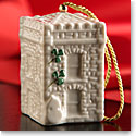 Belleek China Castle Caldwell Gate House Ornament