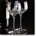 Cashs Crystal Annestown Balloon Red Wine Glass Pair