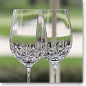 Cashs Crystal Annestown White Wine Glass, Pair