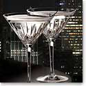 Cashs Crystal Blarney City Martini Glasses, Pair