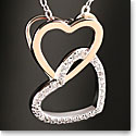 Cashs Sterling Silver and Gold Happy Hearts Pendant Necklace