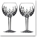 Waterford Classic Lismore Balloon Wine, Pair