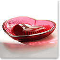 Lalique Love Heart Bowl, Red