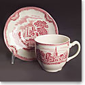 Johnson Brothers Old Britain Castles Pink Tea Saucer, Single