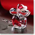 Swarovski Mouse With Santas Hat