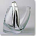 Nambe Crystal Tilt Ice Bucket With Tongs