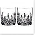 Waterford Lismore Straight Sided Whiskey Tumbler, Pair