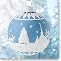Wedgwood 2017 Winter Country Blue Ornament